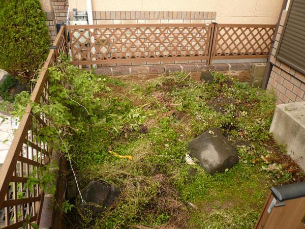 自分好みのお庭にしたい! – 大阪府堺市 S様邸の施工前