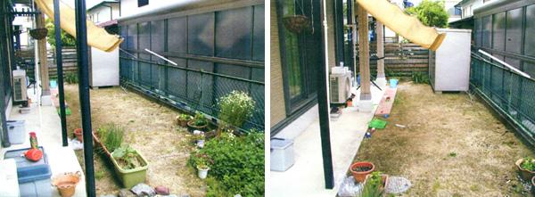 ビフォーアフター「庭に集う」団らんのデッキ – 大阪府堺市 T様邸の施工前