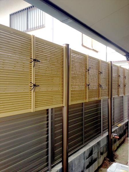 和室に合う 目隠しフェンス – 大阪府堺市 Y様邸