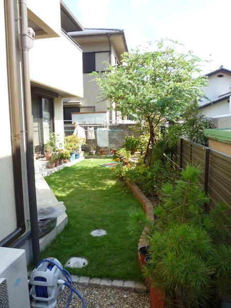 お庭を手軽に楽しむ空間づくり – 大阪府吹田市 M様邸の施工前