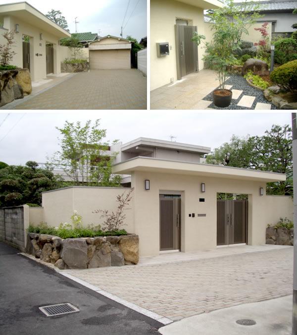 インターロッキングですっきりとしたリ・ガーデン – 大阪府高石市 U様邸