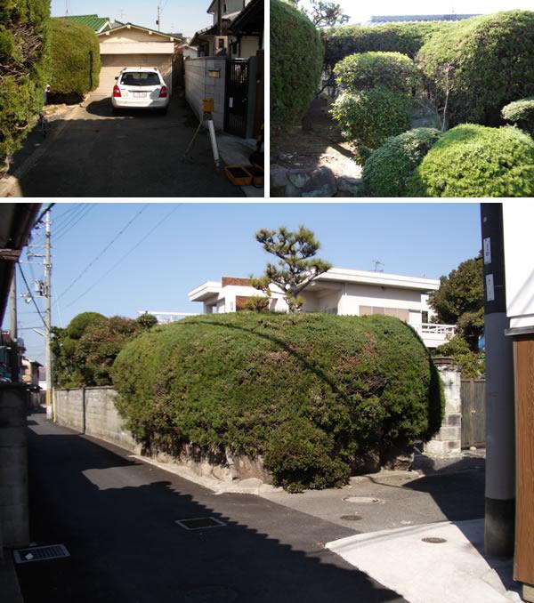 インターロッキングですっきりとしたリ・ガーデン – 大阪府高石市 U様邸の施工前