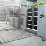 施工後:門柱の位置を移動