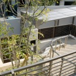 施工後:門柱と階段の取り方が変わりました