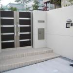 施工前:門柱の位置を移動