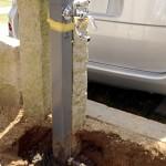 使い勝手を考慮し、立水栓移設