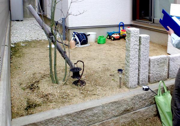 デッキの遊び場 – 大阪府富田林市 F様邸の施工前