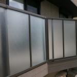 フェンスは目隠し効果もある透過性のものに取替え