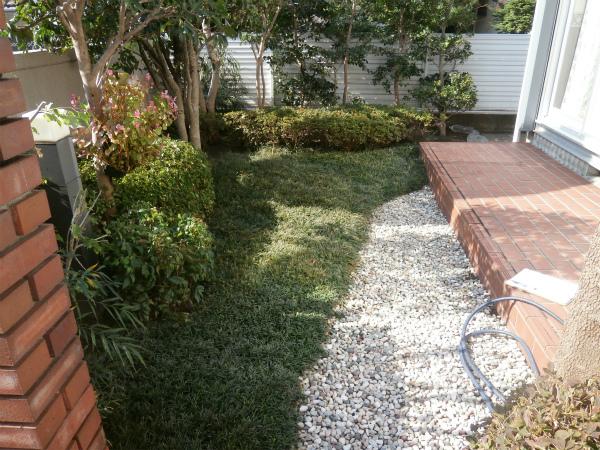 外で過ごすのが楽しみな庭 – 大阪府吹田市 K様邸の施工前