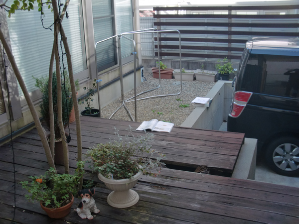 安全なウッドデッキで膨らむ夢-大阪府豊中市S様邸の施工前