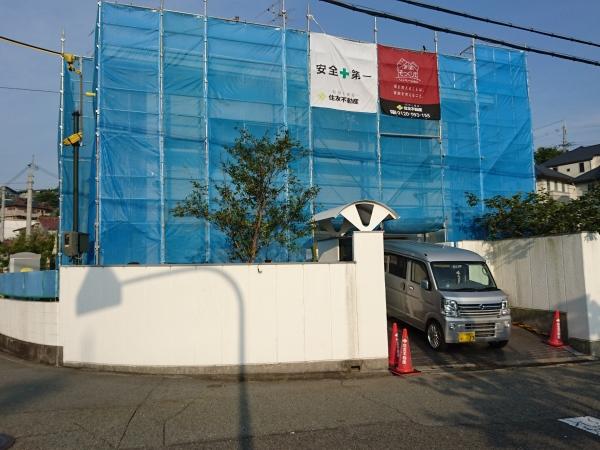 スタイリッシュな門廻り、駐車スペースにリフォーム - 大阪府豊中市S様邸の施工前