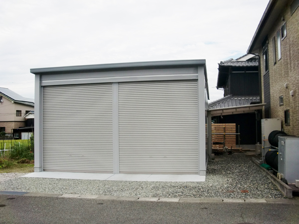 土地を有効利用し、全てを叶える倉庫-兵庫県多可郡多可町H様邸