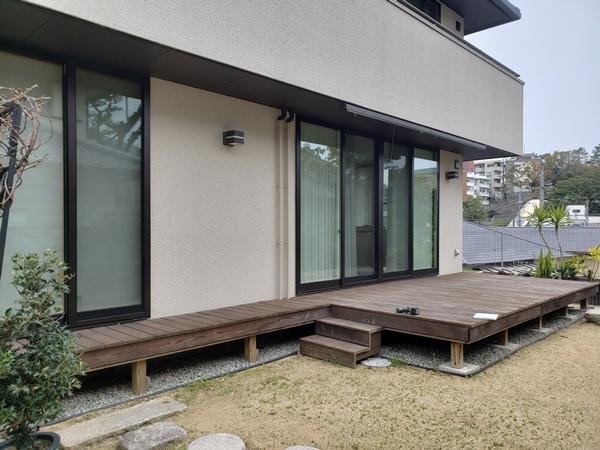 ココマとウッドデッキのあるお庭にリフォーム ー 大阪府吹田市I様邸の施工前