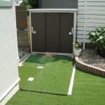 【施工後】お庭で使う道具を収納する物置