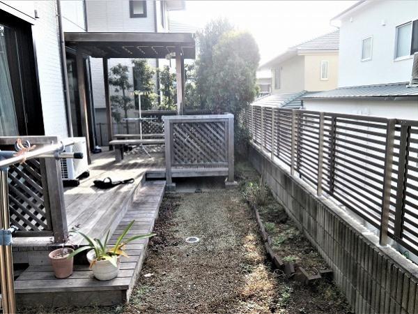 ついつい出たくなる明るいお庭- 大阪府豊中市Y様邸の施工前