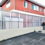 【施工後】テラス屋根と側面パネルで安心