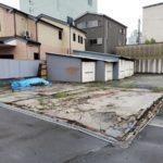 【施工前②】倉庫も舗装も経年劣化