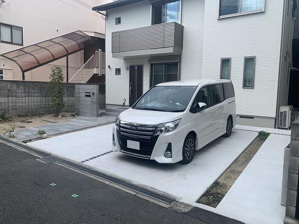 モノトーンでまとめたシンプルな新築外構 - 大阪府吹田市K様邸
