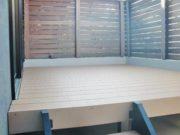施工後:リビング続きのウッドデッキで新しいあそび空間