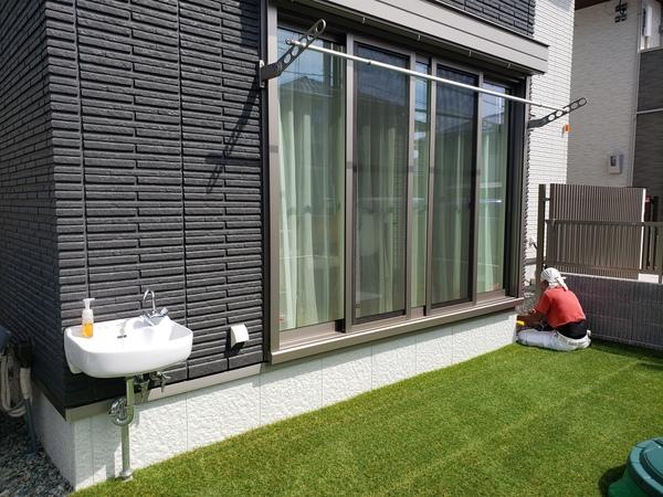 ウッドデッキ設置で洗濯物干しも楽々 – 大阪府茨木市W様邸の施工前