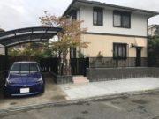 施工後:お庭の一部を駐車場にリフォーム - 大阪府豊中市I様邸