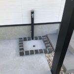 水栓パンにはコンクリート土間目地と同じ素材使用
