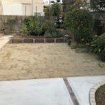 芝生と菜園スペース
