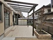 タイルテラスと屋根で明るく実用的なお庭 - 大阪府高槻市K様邸の詳細はこちら