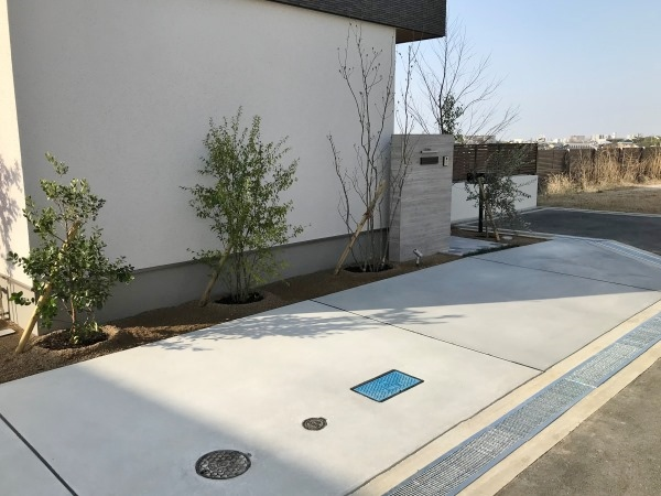 スタイリッシュモダンな新築外構 – 大阪府豊中市I様邸