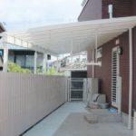 after:洗濯物が濡れない大きめのテラス屋根スペース