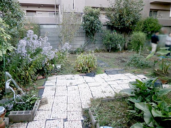野菜作りを楽しむ庭 – 大阪府豊中市 F様邸の施工前