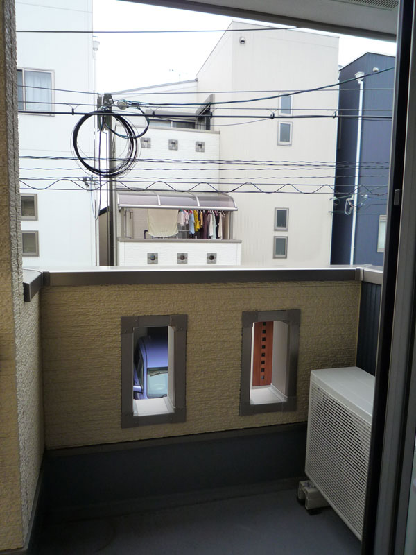 バルコニーから眺める和空間 – 大阪府豊中市 H様邸の施工前