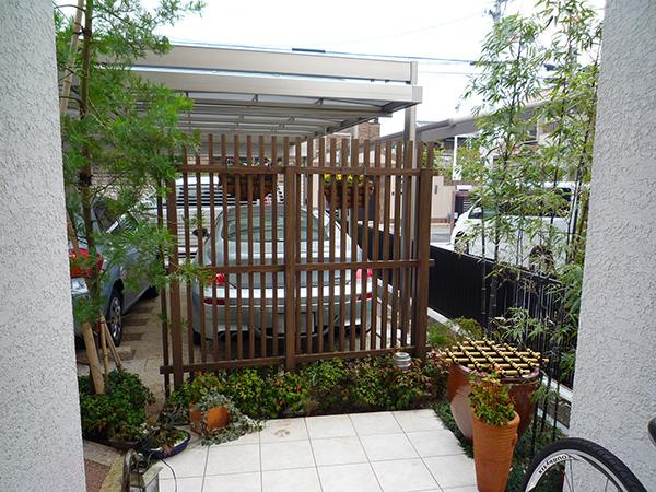 植栽で生まれ変わった-眺める庭- – 大阪府豊中市 I様邸の施工前