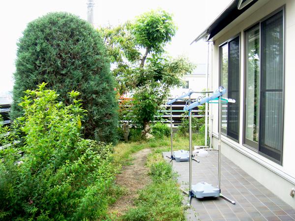 ライティングを楽しむ庭 – 大阪府豊中市 K様邸の施工前