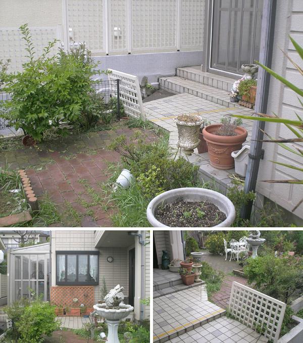愛犬も安心の開放的なガーデンリフォーム – 大阪府豊中市 M様邸の施工前