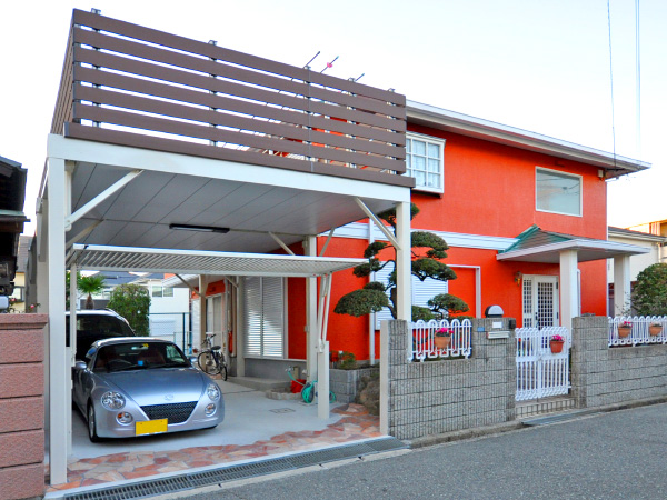 駐車スペースを有効利用 – 大阪府豊中市 M様邸