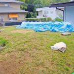 施工前:芝生スペースとなっていたインナーガレージ上のお庭