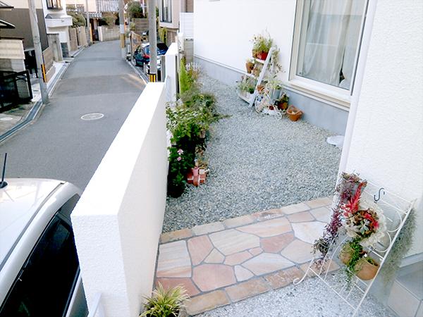 自分だけの空間~お花が咲き誇る庭 – 大阪府豊中市 O様邸の施工前