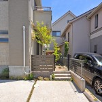 施工後:駐輪所を道路面に確保したのでお庭としてのスペースが出来ました