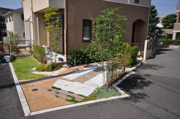 変形地を活かした楽しいお庭 – 大阪府豊中市 S様邸