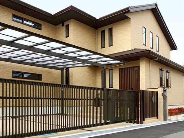 建物とマッチした落ち着きのある門廻り – 大阪府豊中市 S様邸