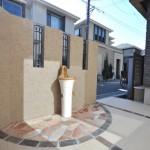 施工後:オシャレな水栓も設置